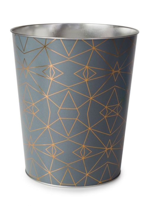 Blue Canyon Serena Metal Waste Bin Grey