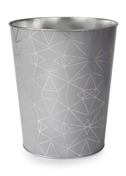 Blue Canyon Serena Metal Waste Bin Silver
