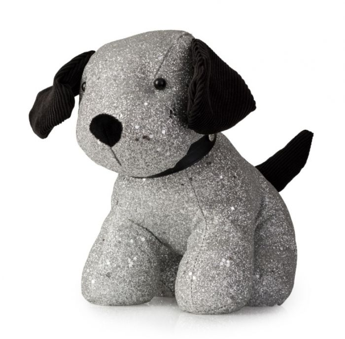 Blue Canyon Sammy Sparkle Dog Door Stop Black