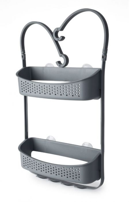 Blue Canyon Double Hanging Shower Caddy Grey