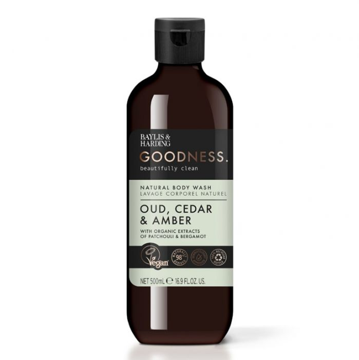 Baylis & Harding Bodywash 500ml Oud Cedar & Amber