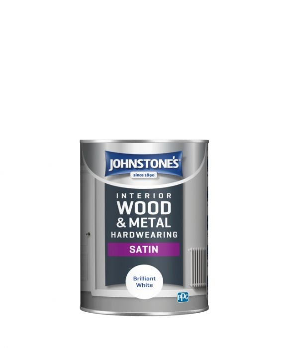 Johnstone's Hardwearing Satin - Brilliant White 1.25L