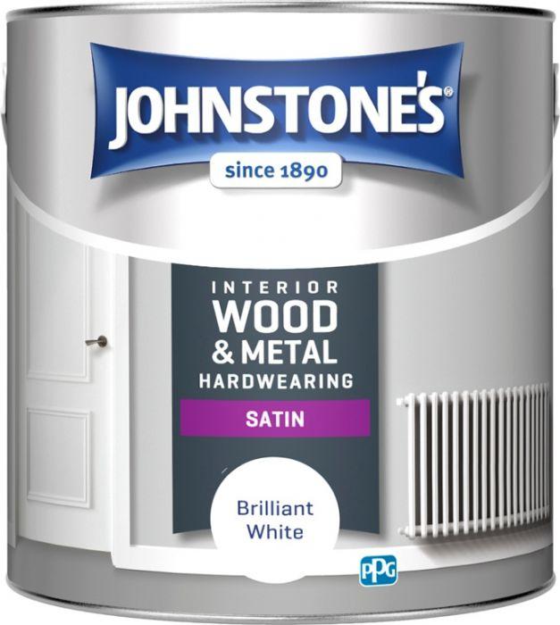 Johnstone's Hardwearing Satin - Brilliant White 2.5L
