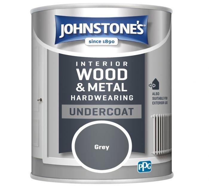 Johnstone's Hardwearing Undercoat 750ml Grey