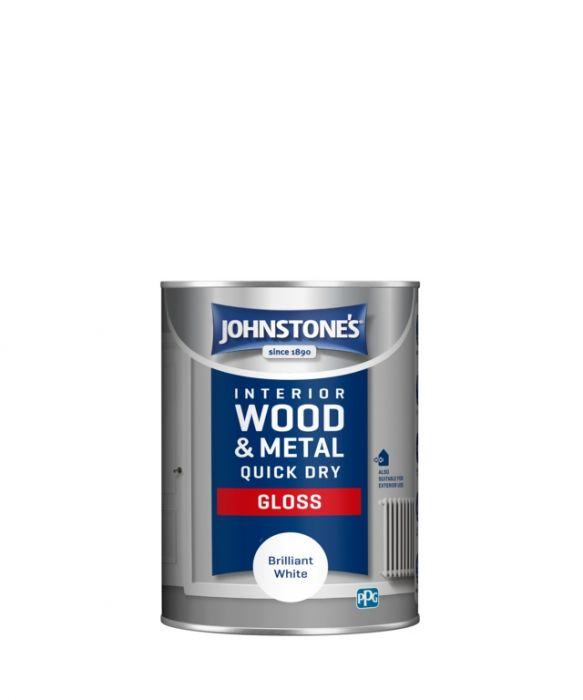 Johnstone's Quick Dry Gloss - Brilliant White 1.25L