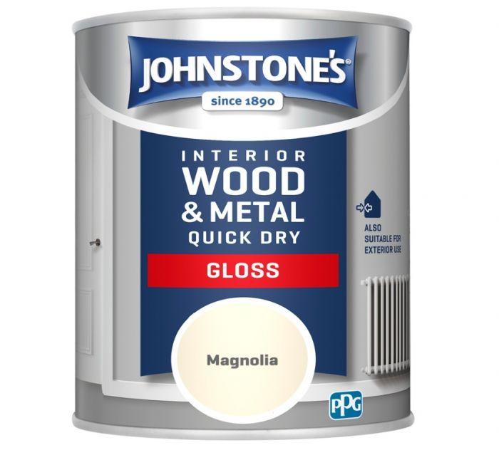 Johnstone's Quick Dry Gloss 750ml Magnolia