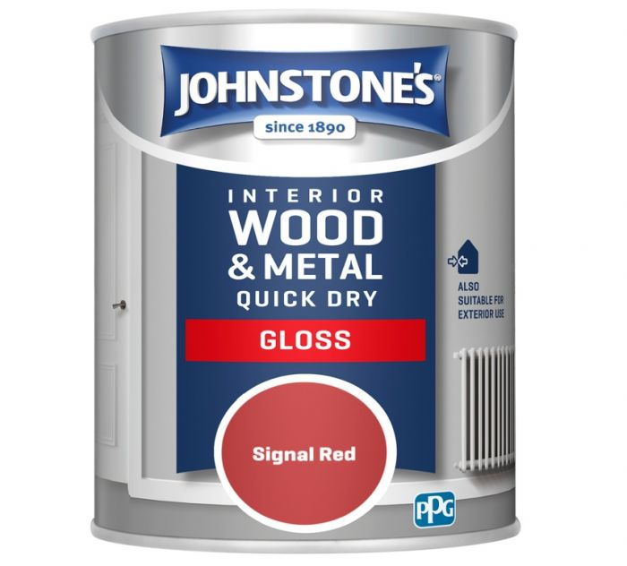 Johnstone's Quick Dry Gloss 750ml Signal Red