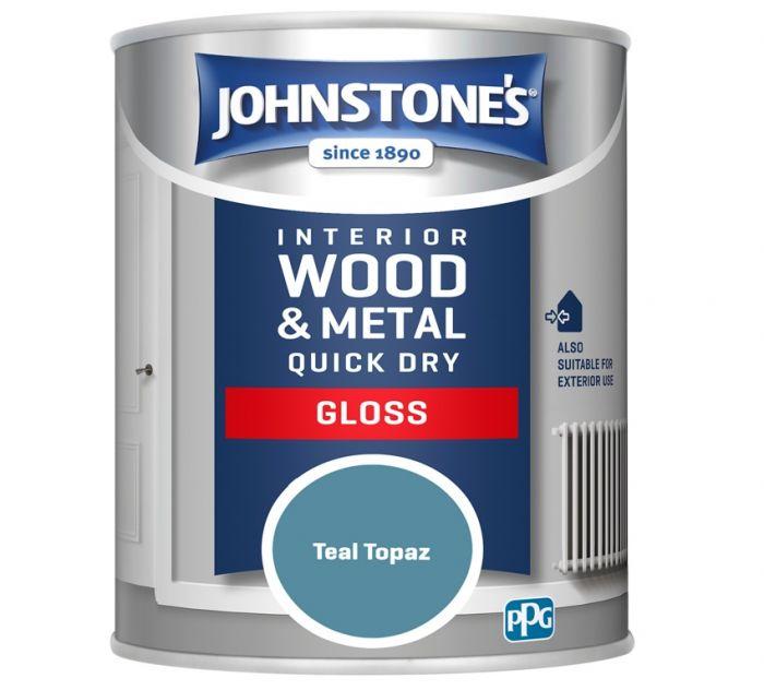 Johnstone's Quick Dry Gloss 750ml Teal Topaz