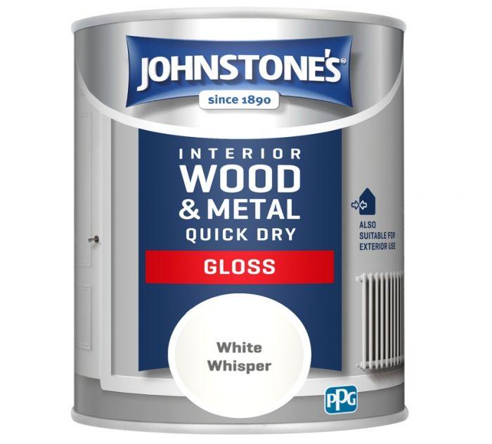 Johnstone's Quick Dry Gloss 750ml White Whisper