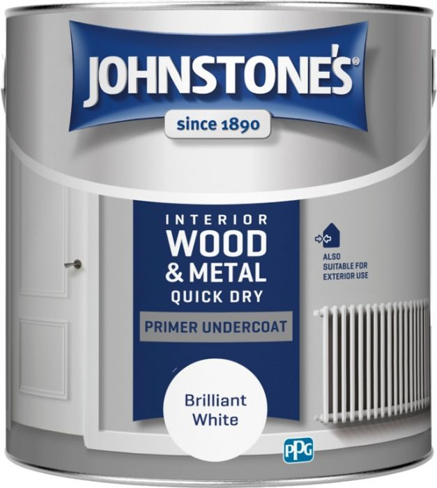 Johnstone's Quick Dry Primer Undercoat - Brilliant White 2.5L