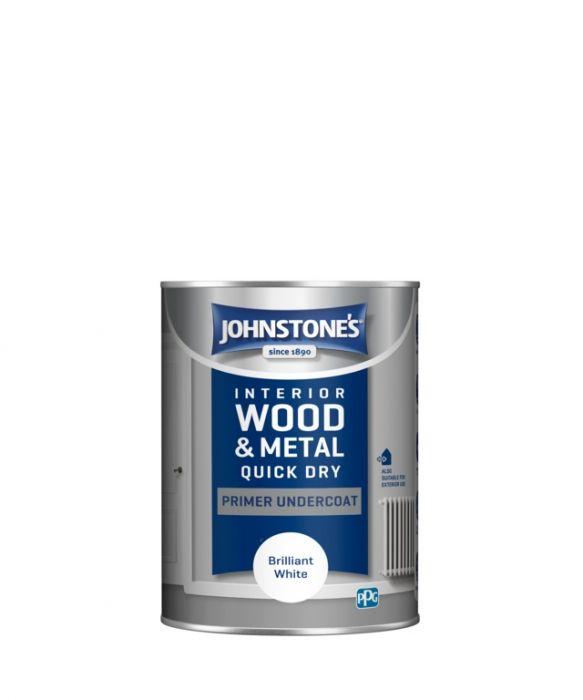 Johnstone's Quick Dry Primer Undercoat - Brilliant White 1.25L