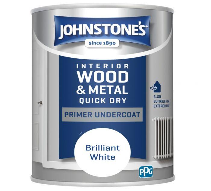 Johnstone's Quick Dry Primer Undercoat - Brilliant White 750ml
