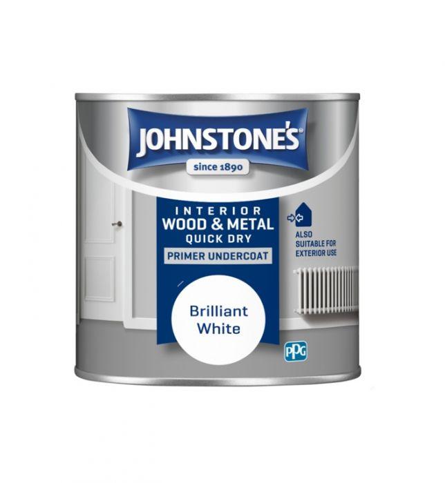 Johnstone's Quick Dry Primer Undercoat - Brilliant White 250ml