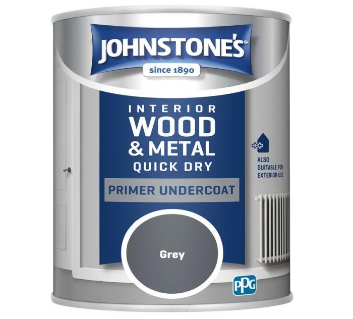 Johnstone's Quick Dry Primer Undercoat 750ml Grey