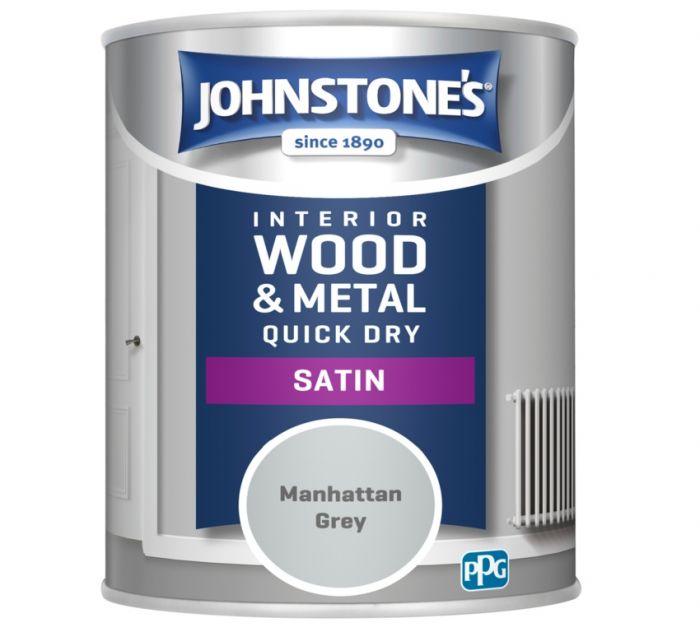 Johnstone's Quick Dry Satin 750ml Manhattan Grey