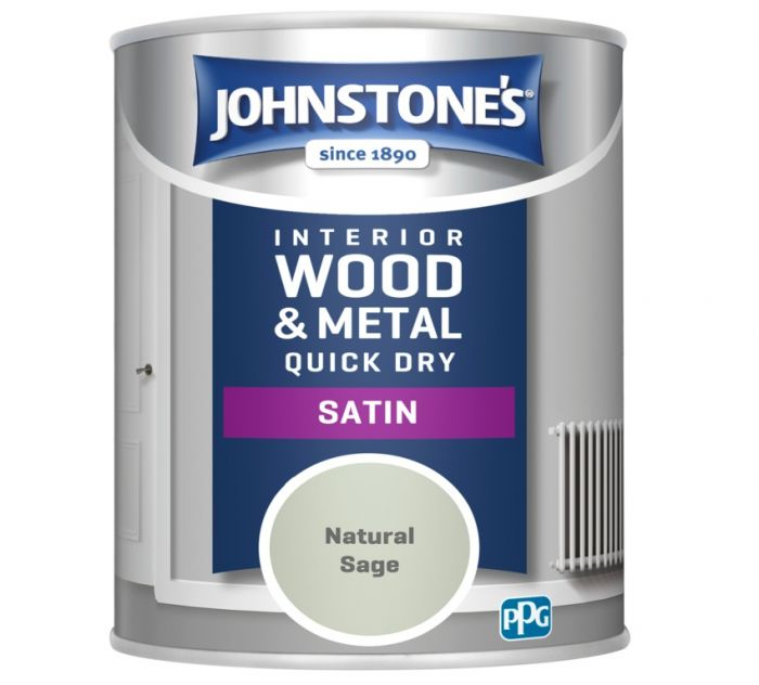Johnstone's Quick Dry Satin 750ml Natural Sage