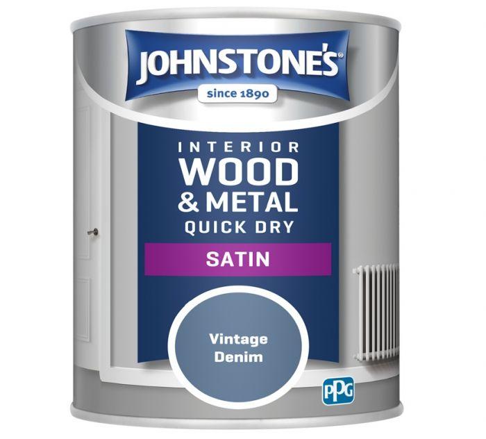 Johnstone's Quick Dry Satin 750ml Vintage Denim