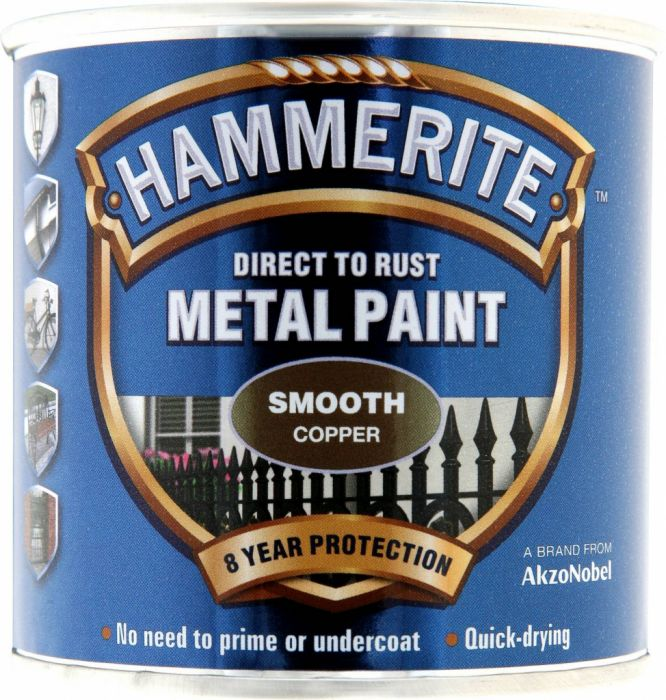 Hammerite Metal Paint Smooth 250ml Copper