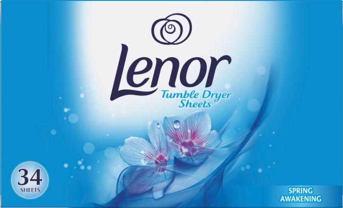 Lenor Tumble Dryer Sheets Spring Awakening Pack 34