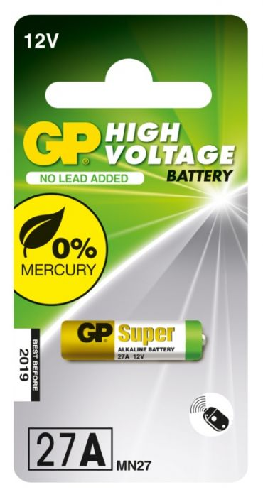 GP Alkaline High Voltage Battery 27A