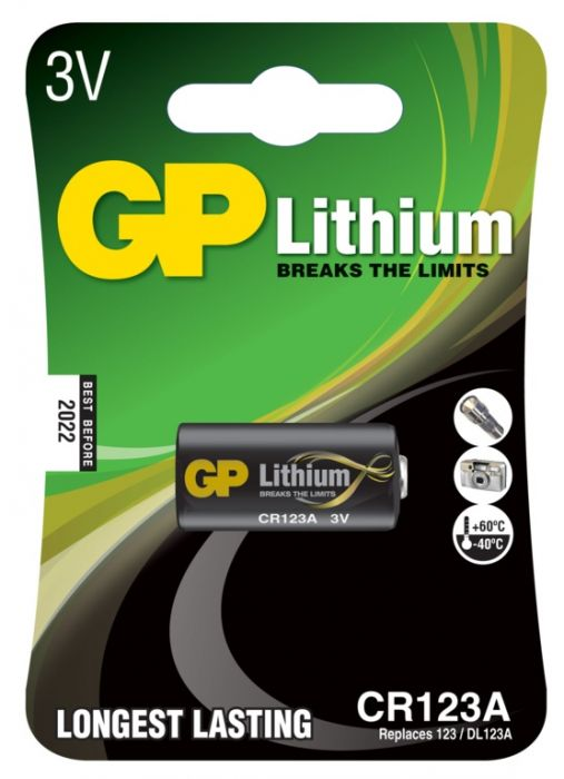 GP Lithium Battery CR123A Single