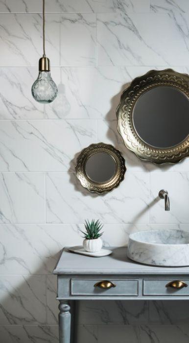 Carrara White Marble Wall Tile 600 x 300 x 10mm