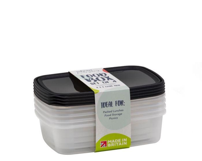 Wham Food Storage Box 1L Set 4