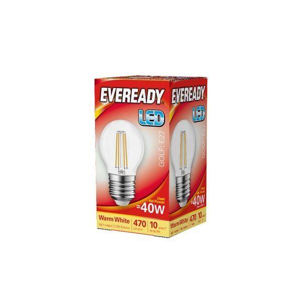 Eveready LED Filament Golf 470LM E27 ES 4W 27000K