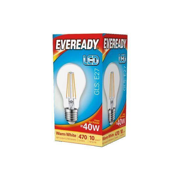 Eveready LED Filament GLS E27 470LM ES 4W 27000K