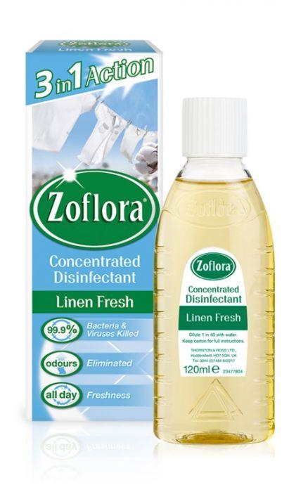 Zoflora Disinfectant 120ml Linen Fresh