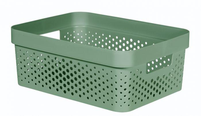 Curver Infinity Dots Box 11L Shale Green
