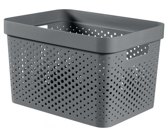 Curver Recycled Infinity Dots Box 17L Dark Grey