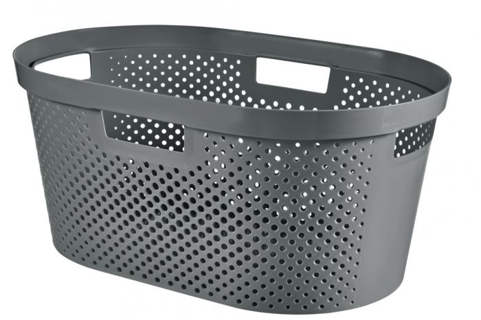 Curver Recycled Infinity Dots Laundry Basket 40L Grey