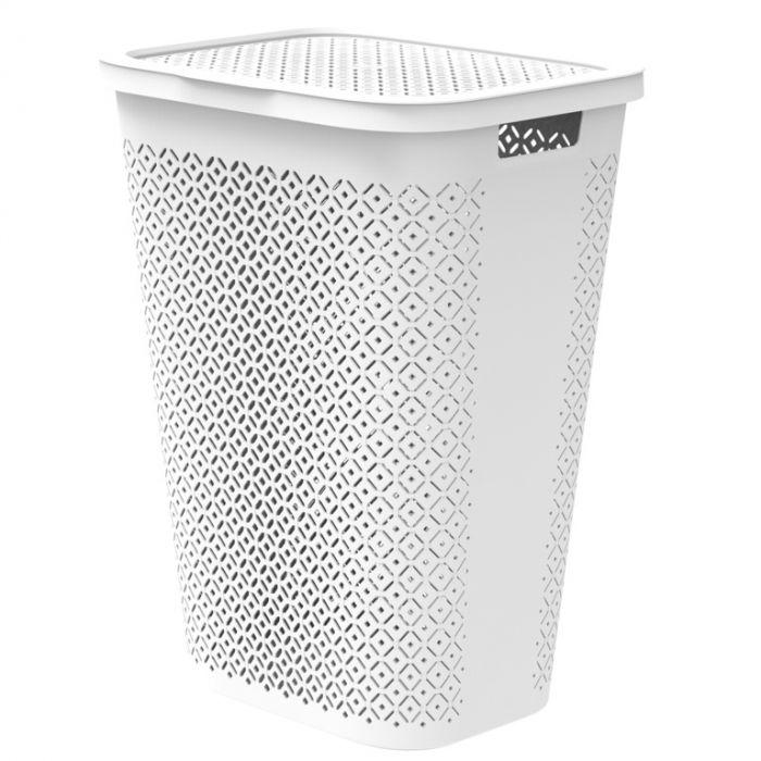 Curver Terrazzo Laundry Hamper 55L White