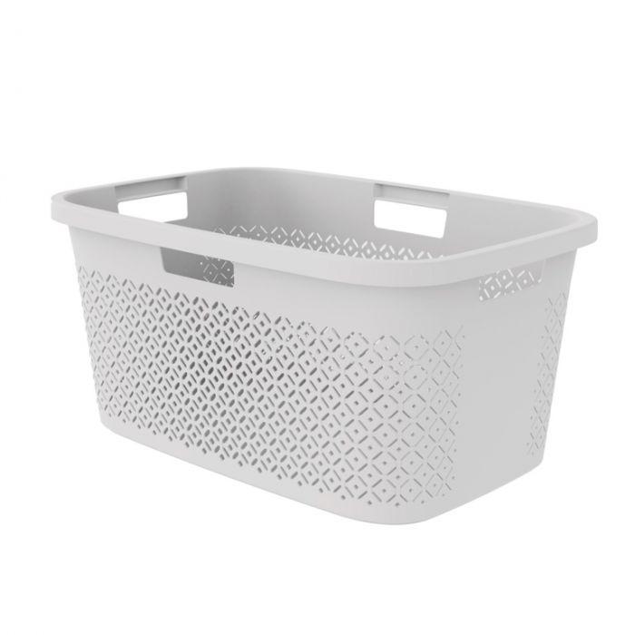 Curver Terazzo Laundry Basket 47L Grey