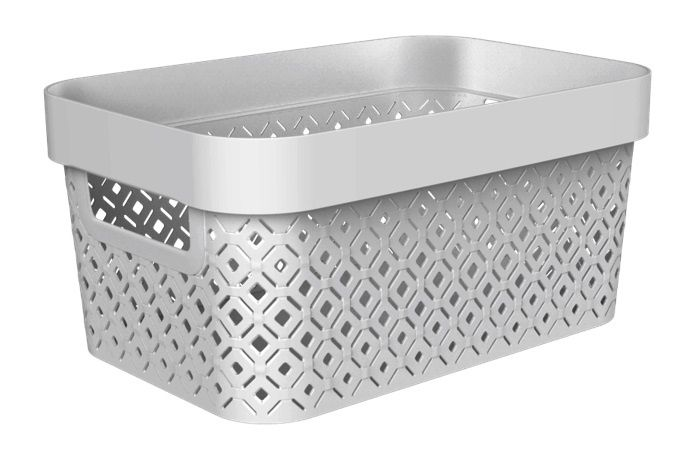 Curver Terazzo Storage Basket 4.5L Grey