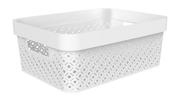 Curver Terazzo Storage Basket 11L White