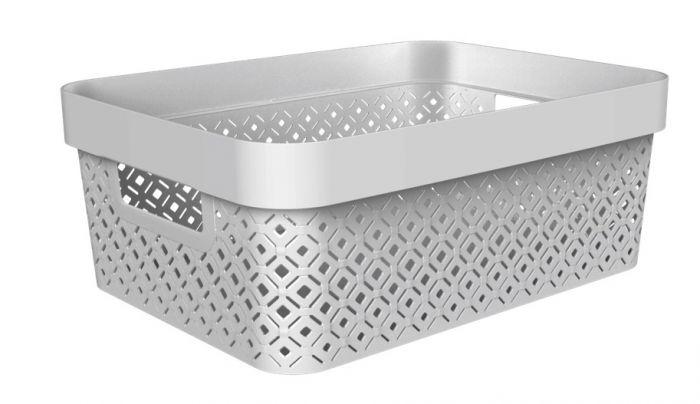 Curver Terazzo Storage Basket 11L Grey