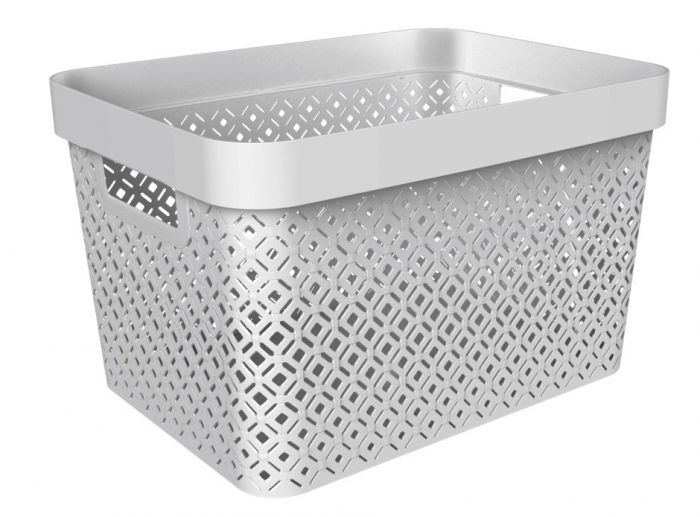 Curver Terazzo Storage Basket 17L Grey