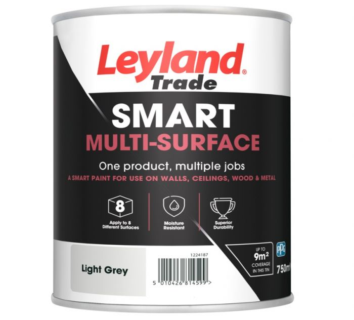 Leyland Trade Smart Multi Surface 750ml Light Grey