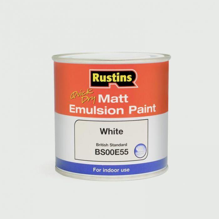Rustins Matt Emulsion 500ml White