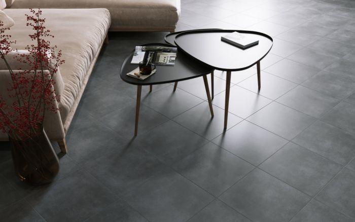 Golden Tile Porcelain Floor Tile 40 x 40cm Pack 7 Lofty Anthracite 1.12m2