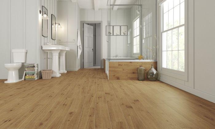 Golden Tile Floor & Wall Tile 15 x 60cm x 1.26m2 Pack 14 Forestina Dark Beige