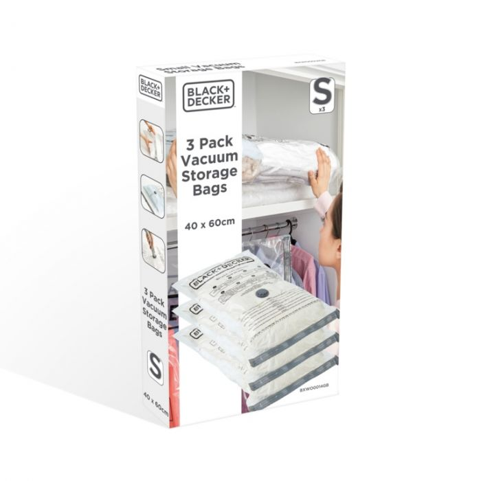 Black & Decker Vacuum Storage Bags Small 3 Pack