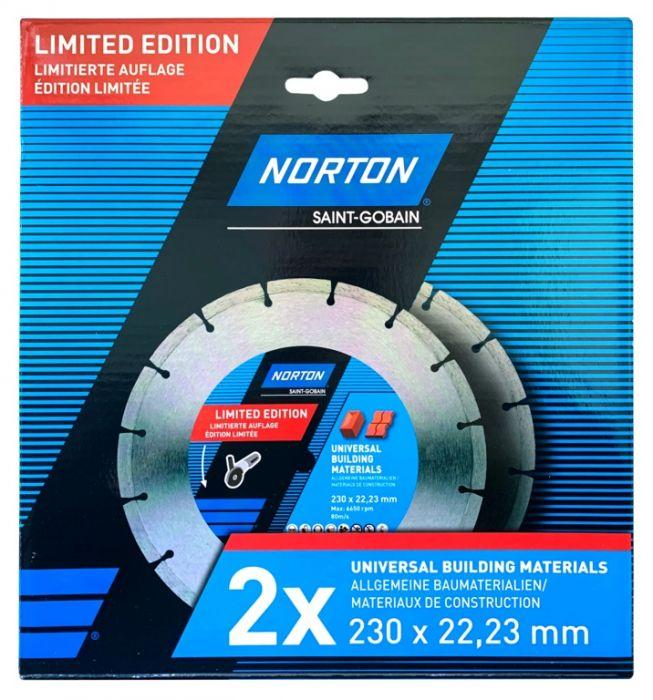 Norton Saw Blade Universal 230 x 22.23mm Pack 2