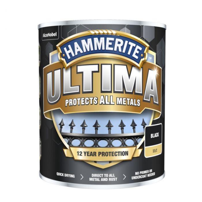 Hammerite Ultima Smooth Metal Paint 750ml Black