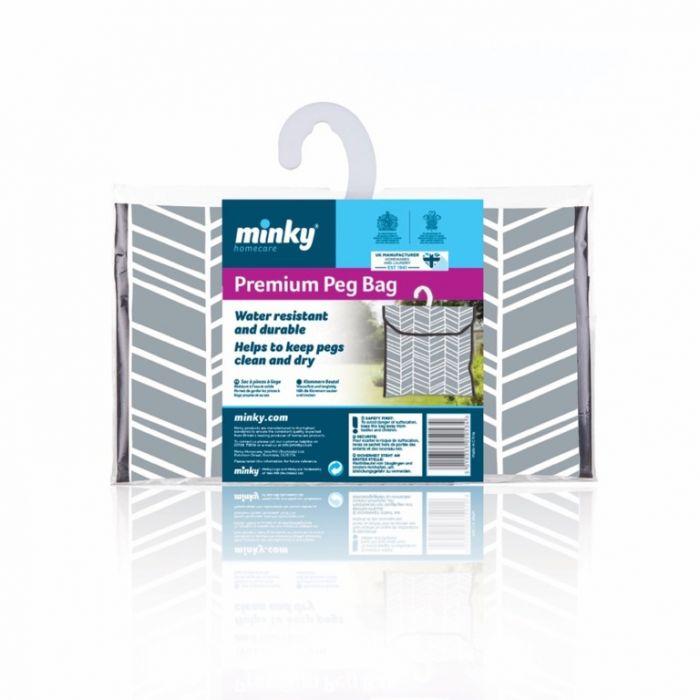 Minky Premium Geometric Peg Bag