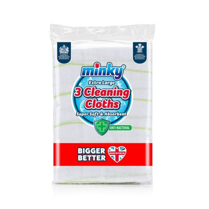 Minky Anti-Bac Cleaning Cloths Pack 3
