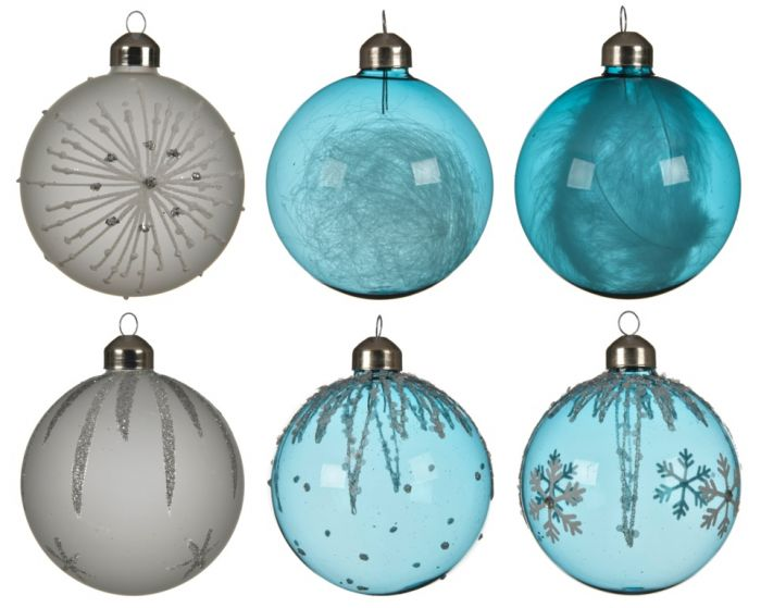 Glass Bauble Snowflake