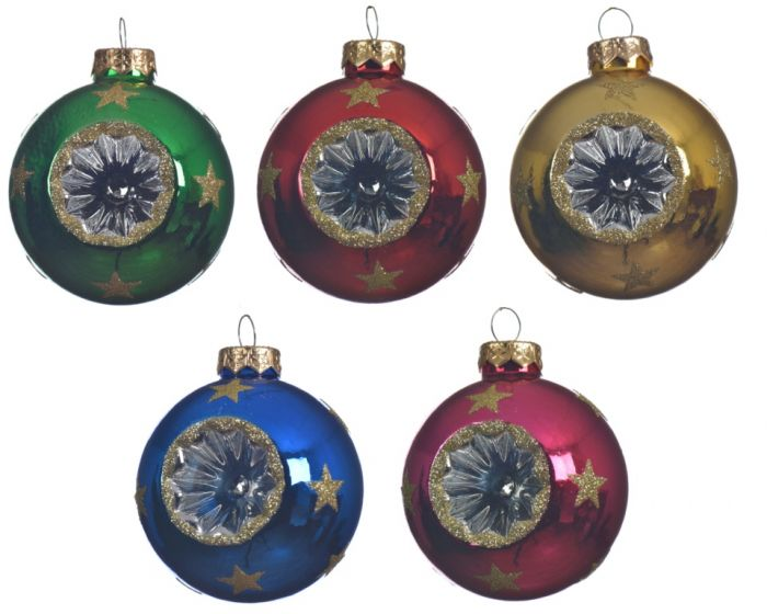 Glass Bauble With Reflex